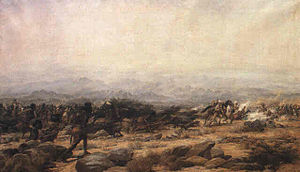 John MacRae-Gilstrap - An incident at the Battle of Tamai, eastern Sudan, March 13, 1884 by Godfrey Douglas Giles
