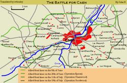 מפת אזור הקרב
