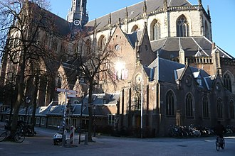 Grote Kerk, Haarlem - The south side today - on the right is the consistory added by De Bray