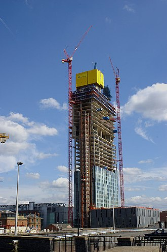 Beetham Tower, Manchester - Beetham Tower under construction.