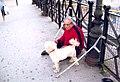 Beggar zobrajuci a pes Kosice Slovakia jun 2006.jpg