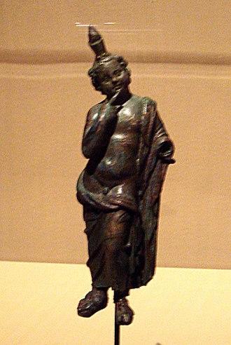 Harpocrates - Bronze statuette of Harpocrates, Bagram, Afghanistan, 2nd century.