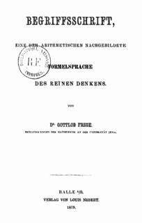 <i>Begriffsschrift</i> book about logic