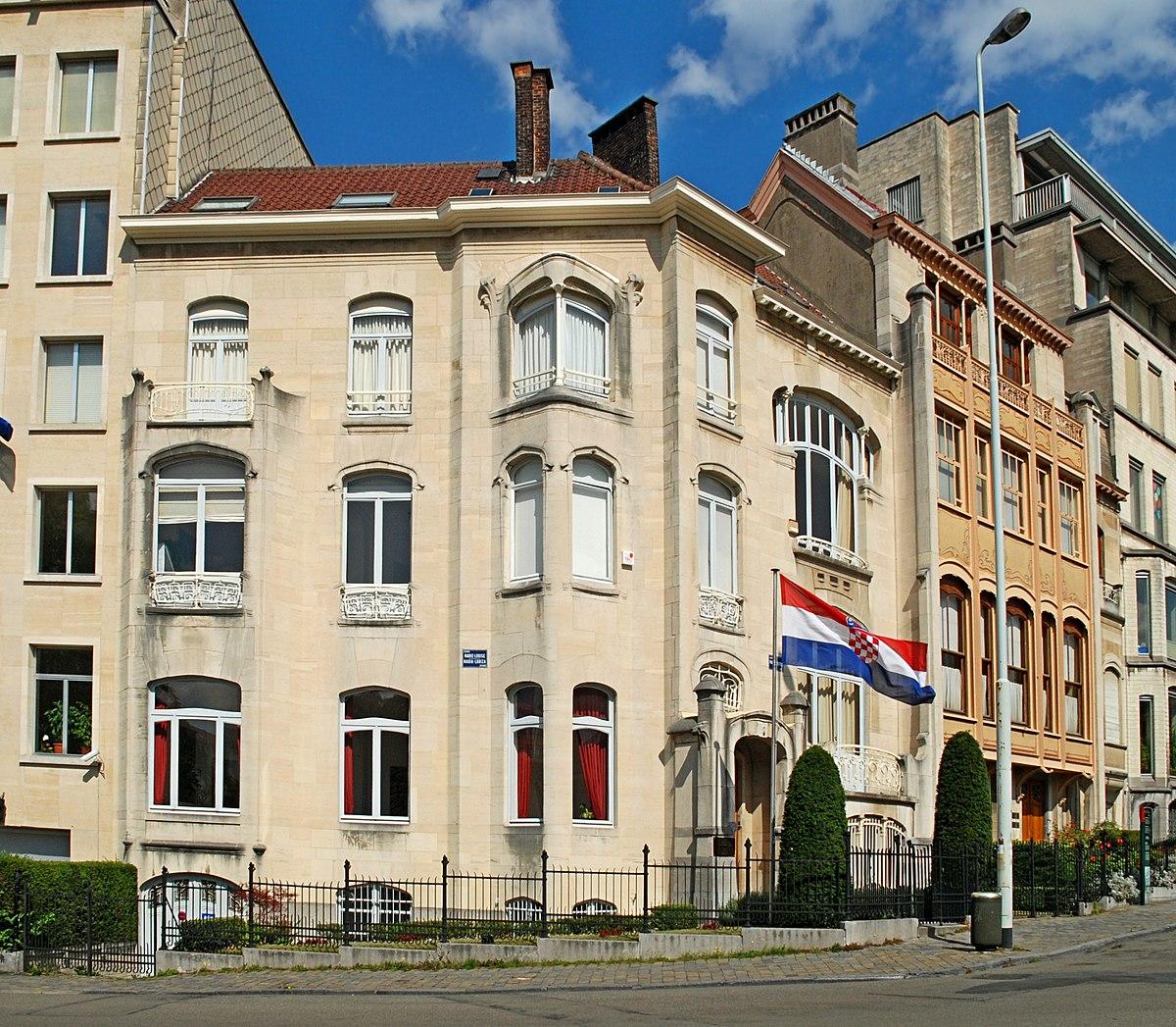 Maison de l 39 architecte jean delhaye wikip dia for Architecte bruxelles
