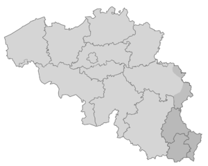 Map of Belgium and Luxembourg
