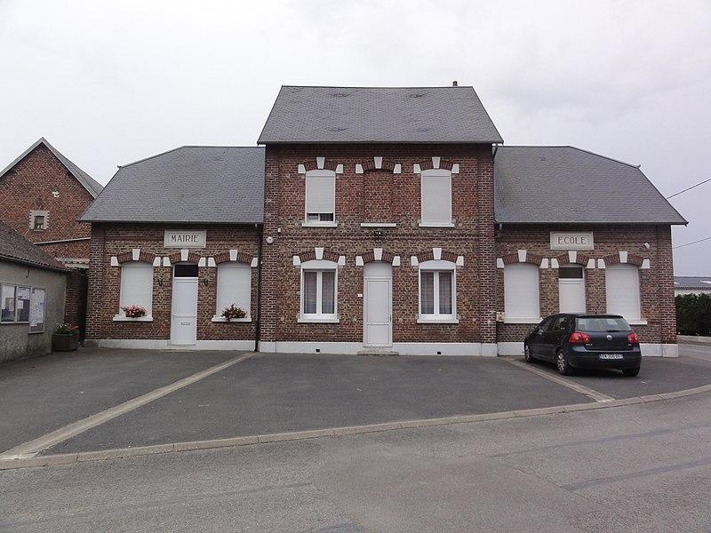 Benay (Aisne) mairie-école