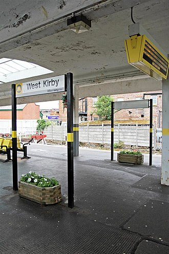 West Kirby railway station - Image: Beneath the canopy, West Kirby Station (geograph 2985638)