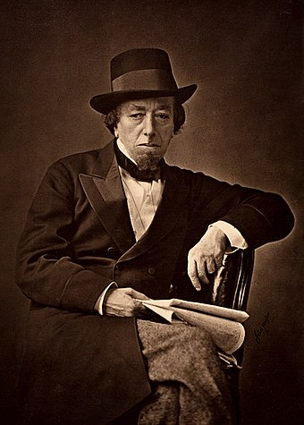 Benjamin Disraeli was the father of one-nation conservatism. Benjamin Disraeli by Cornelius Jabez Hughes, 1878.jpg