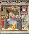 Benozzo Gozzoli - Death of St Monica (scene 13, south wall) - WGA10306.jpg