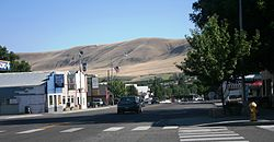 Benton City Washington - looking south through main street - July 2013.JPG