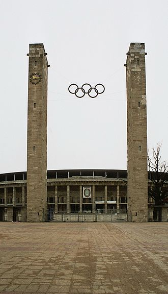 National Socialist League of the Reich for Physical Exercise - Berlin, gate of the Olympic Stadium