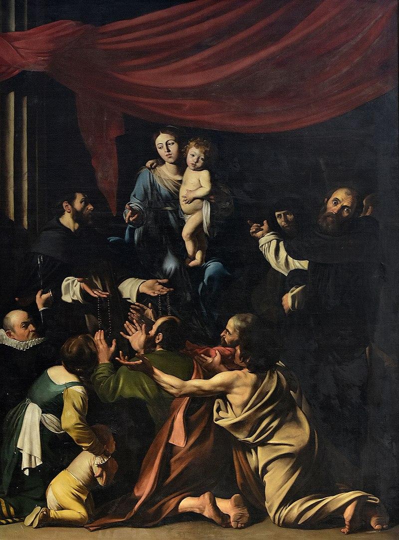 Bernardus De Quertenmont (kopie naar Caravaggio) O.-L.-Vrouw van de Rozenkrans Sint-Pauluskerk (Antwerpen) 19-08-2018.jpg