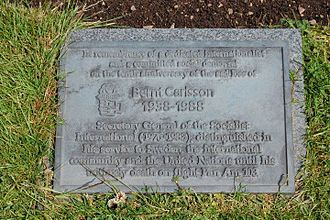 Pan Am Flight 103 - Dryfesdale Cemetery memorial stone dedicated to Bernt Carlsson