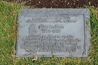 Pan Am Flight 103 - Dryfesdale Cemetery memorial stone dedicated to Bernt Carlsson