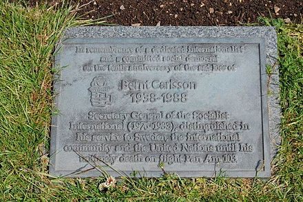 Dryfesdale Cemetery memorial stone dedicated to Bernt Carlsson BerntCarlssonMemorial.jpg