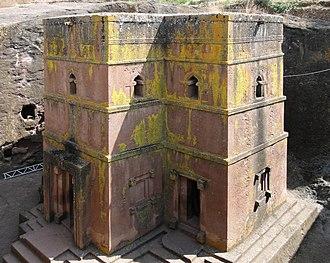 Monolithic church - Bete Giyorgis (Church of St. George), Lalibela, Ethiopia