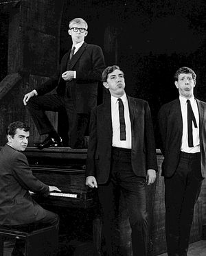 Jonathan Miller - Miller (far right) in Beyond the Fringe on Broadway