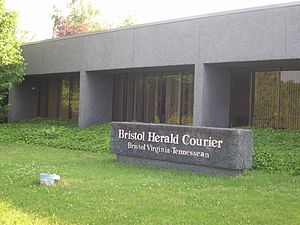 Bristol Herald Courier - Office of the Bristol Herald Courier in Bristol, Va. Daily newspaper