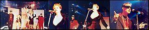 Big Bang (British band) - Big Bang on stage during their Arabic Circus Tour, 1989