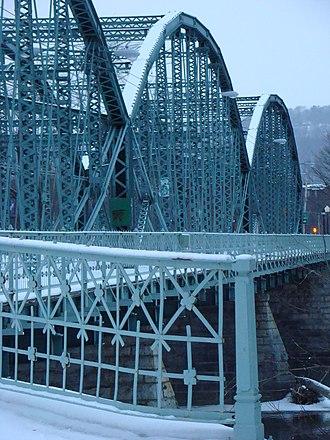 South Washington Street Parabolic Bridge - South Washington Street Parabolic Bridge, February 2011