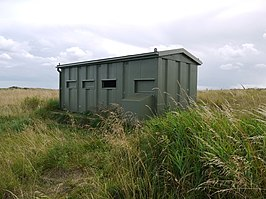 Bird hide at nature reserve