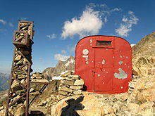 tiny bivouac shelter used by mountain climbers