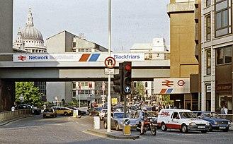 Queen Victoria Street, London - Queen Victoria Street in 1989
