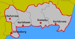 Kommuner I Blekinge Karta.Blekinge Wikipedia