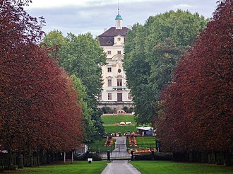 Ludwigsburg Palace - The main palace from Schloss Favorite