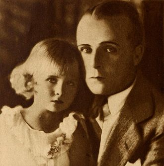 Bobby Vernon - Vernon with his daughter, Barbara, c. 1929