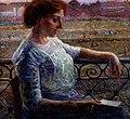 Boccioni - La sorella Amelia al balcone, 1909.jpg