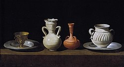 Francisco de Zurbarán: Still Life with Pots