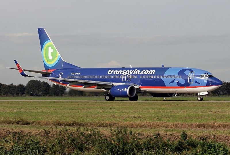File:Boeing 737-8BK, Transavia Airlines (Sun Country Airlines) AN1415145.jpg