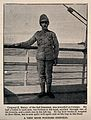 Boer War; a soldier standing on deck after a long recovery f Wellcome V0015627EL.jpg