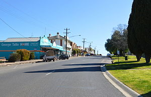 Boort - Godfrey Street, the main street of Boort