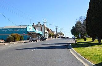 Boort - Godfrey Street, the main street of Boort