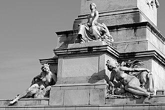 Place des Quinconces - The Girondists monument.