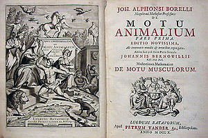 Giovanni Alfonso Borelli - De Motu Animalium Is cover