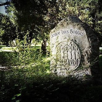 Jorge Luis Borges - Borges' grave, Cimetière des Rois, Plainpalais, Geneva.