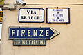 Borgo san lorenzo, indicazioni per la via faentina.JPG