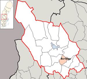 Borlänge Municipality - Image: Borlänge Municipality in Dalarna County
