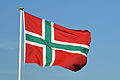 Bornholm, Flagge (2012-07-10), by Klugschnacker in Wikipedia.JPG