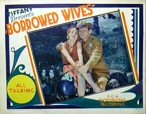 Rex Lease - Lobby card for Borrowed Wives (1930) with Vera Reynolds and Rex Lease