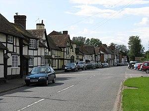 Bosbury - Image: Bosbury village geograph.org.uk 948524
