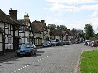 Bosbury village in United Kingdom