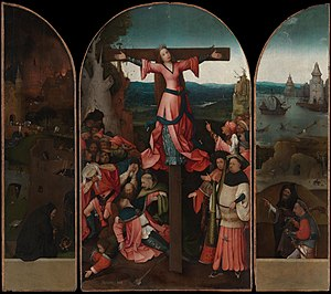 Hieronymus Bosch - The Crucifixion of St Julia is attributed to Bosch's middle period, c. 1497.