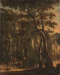 Chasseurs dans la forêt