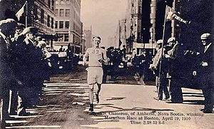 Boston Marathon Finish Line.1910. Author: Unknown.