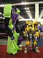 BotCon 2011 - Transformers cosplay - Devastator and Bumblebee (5802072413).jpg