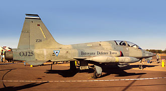Botswana Defence Force Air Wing - A Botswana Defence Force CF-5 on display